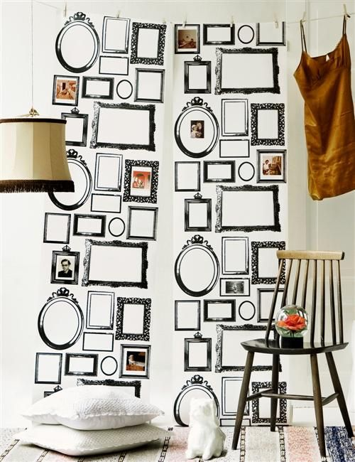 i think i really might want this. Family Values wallpaper strips