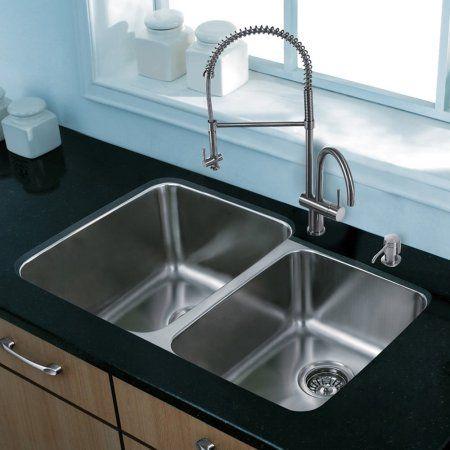 vigo all in one 32 inch stainless steel undermount kitchen sink and rh pinterest ca