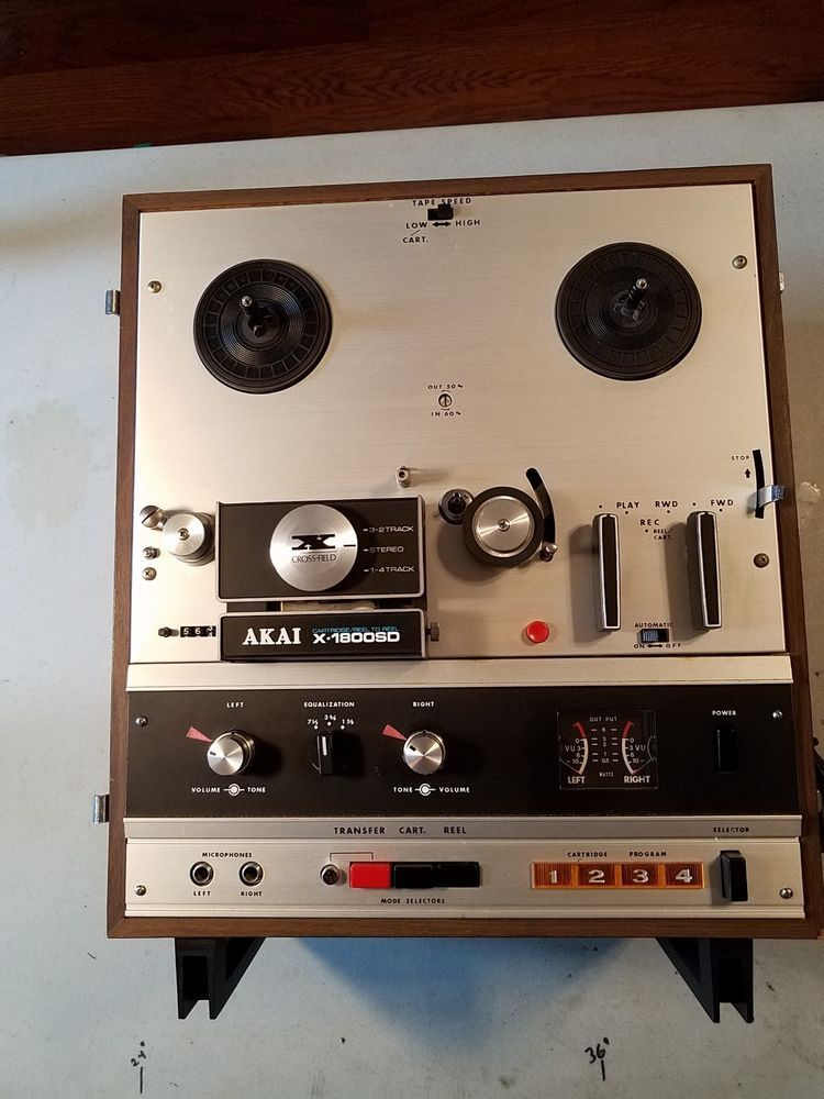 akai x 1800sd reel to reel tape w amplifier and 8 track player rh pinterest com