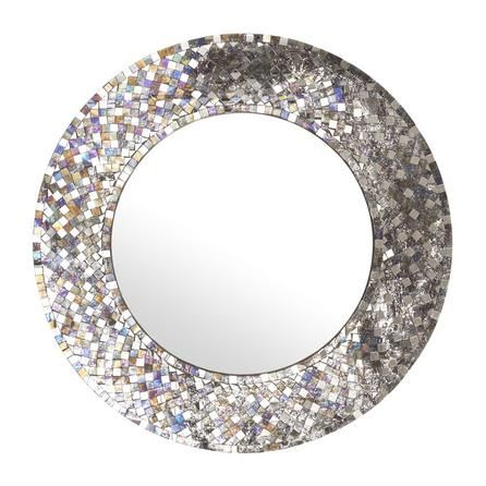 Mosaic Round Mirror