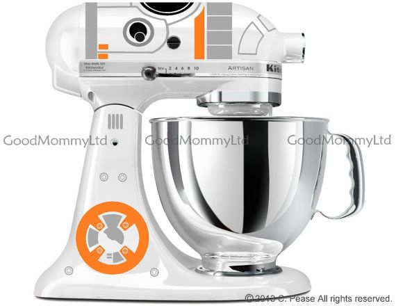 bb8 decal kit for your kitchenaid stand mixer star wars inspired rh pinterest com