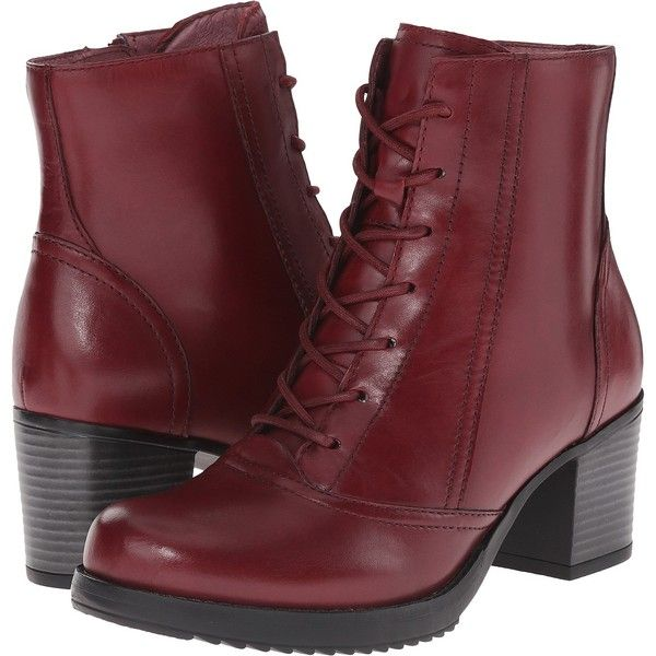 Dansko Ames (Red Calf) Women's Lace-up Boots ($107) ❤ liked on ...