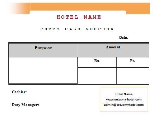 Sample Format of Hotel petty Cash Voucher Sample Hotel Guest - cash receipt format word