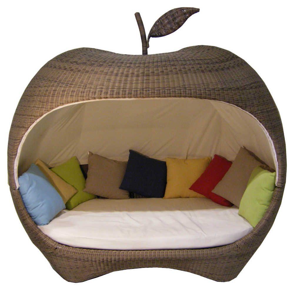 Canapé de jardin en forme de Pomme en Résine tressée-1 in ...