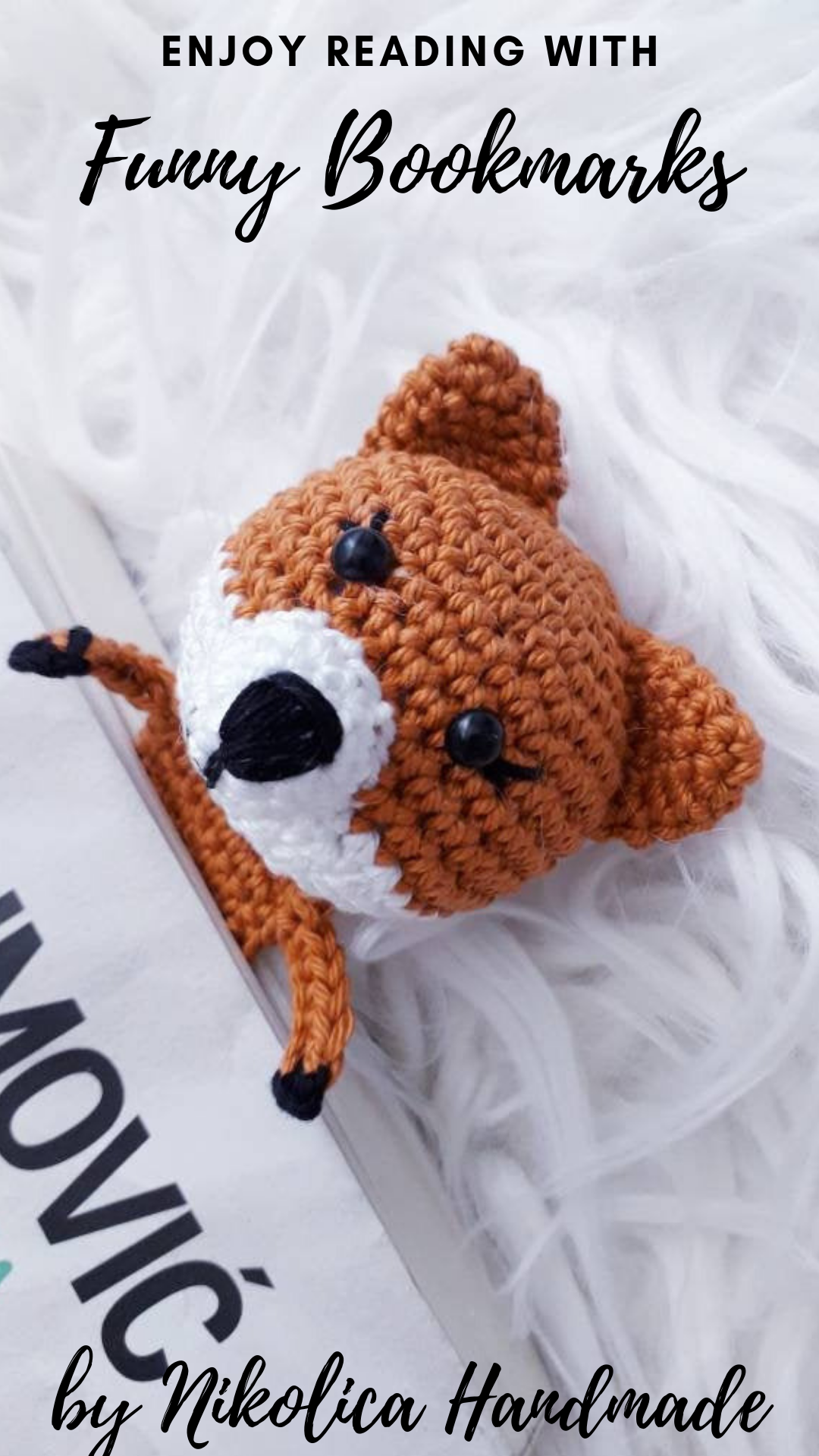 Amigurumi Crochet Fox Bookmark -