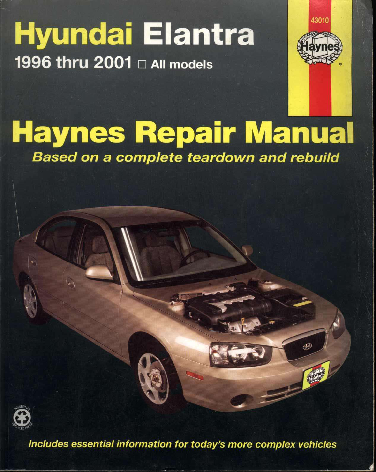 Free download Hyundai Elantra 1996-2001 Haynes Owners Service & Repair Manual  PDF scr1 | repair manual 2001 hyundai elantra | Pinterest | Repair manuals  and ...