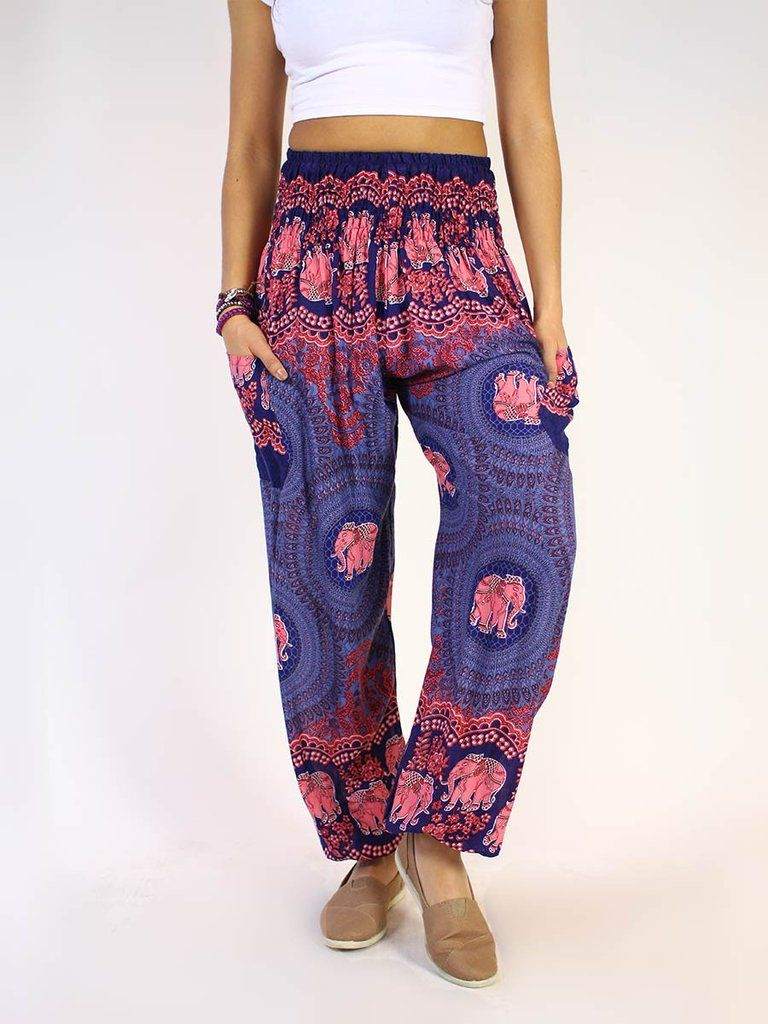 aedc0831a76 Turn heads in our Nellie Dark Blue harem pants. These loose-fit ...