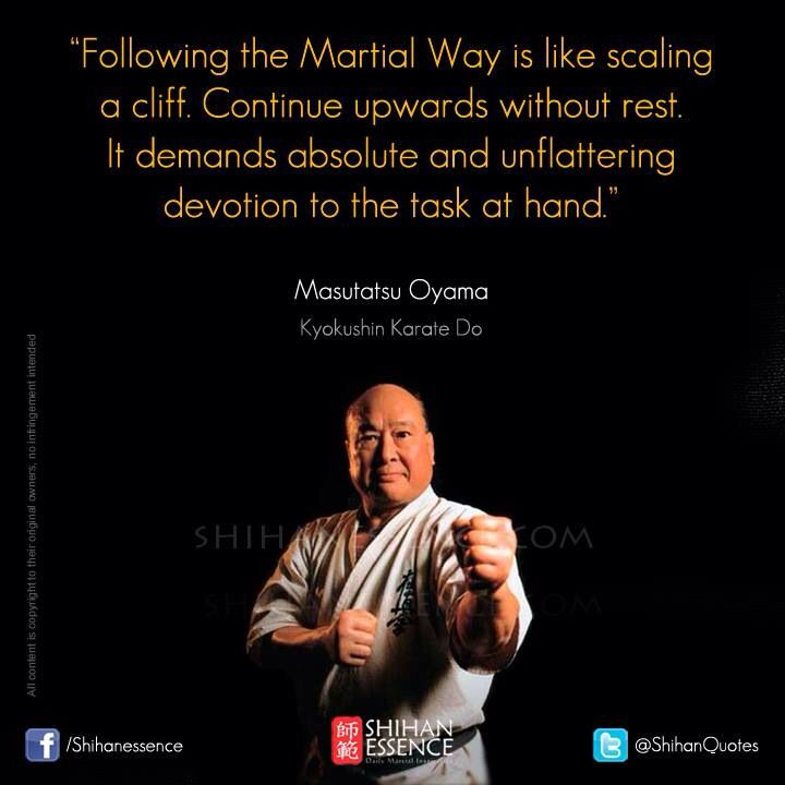 Martial arts inspiration and quotes to live by. Shihan