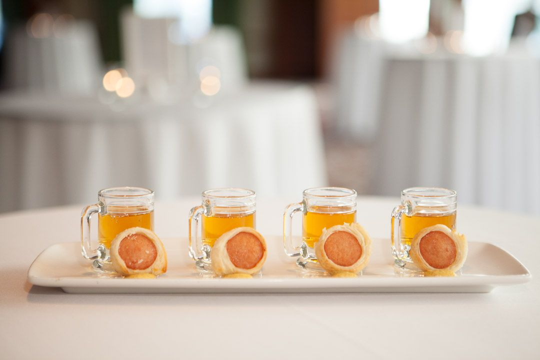 Your Guide for Hosting the Ultimate Food-and-Drink-Pairing Cocktail Hour on Borrowed & Blue.  Photo Credit: via Westminster Hotel Weddings