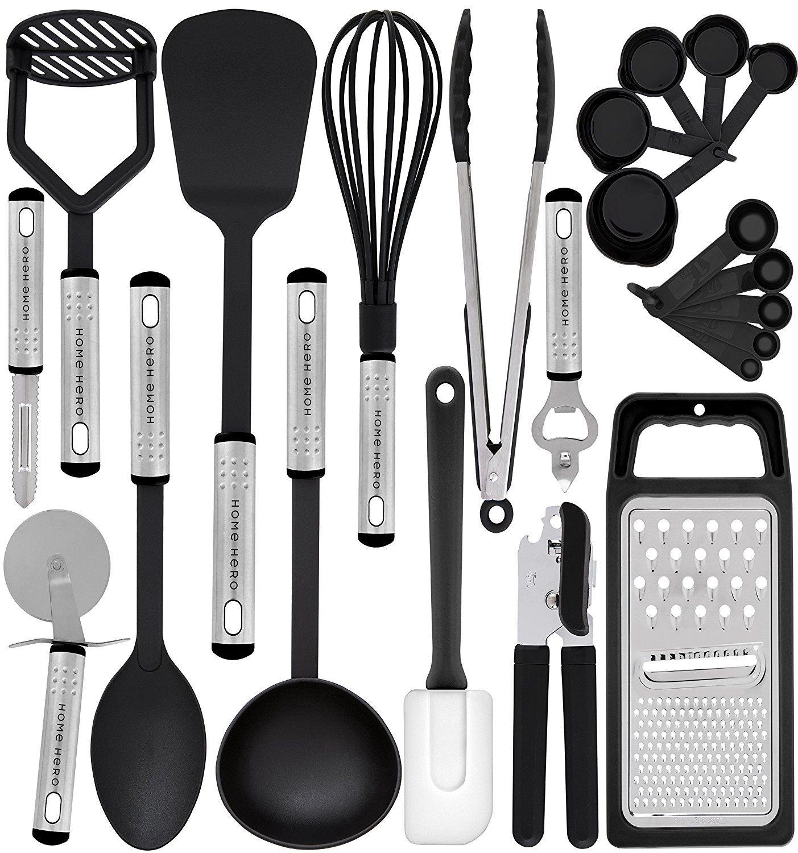 kitchen utensil set 23 nylon cooking utensils best offer in 2019 rh pinterest com