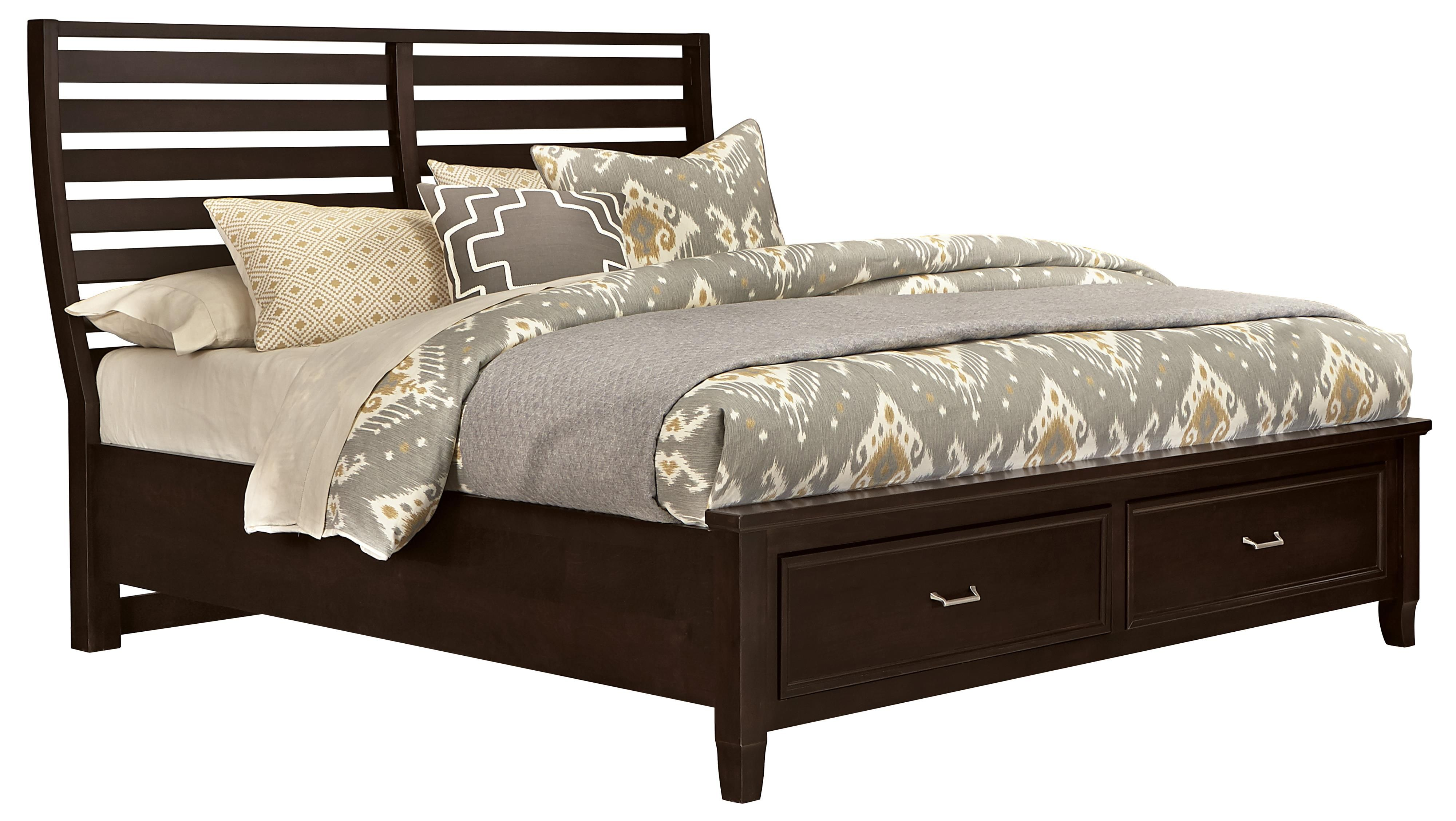 Commentary Queen Benchback Bed With Storage Footboard By Vaughan Bassett At Dunk Bright Furniture Storage Footboard Bed Bed Storage