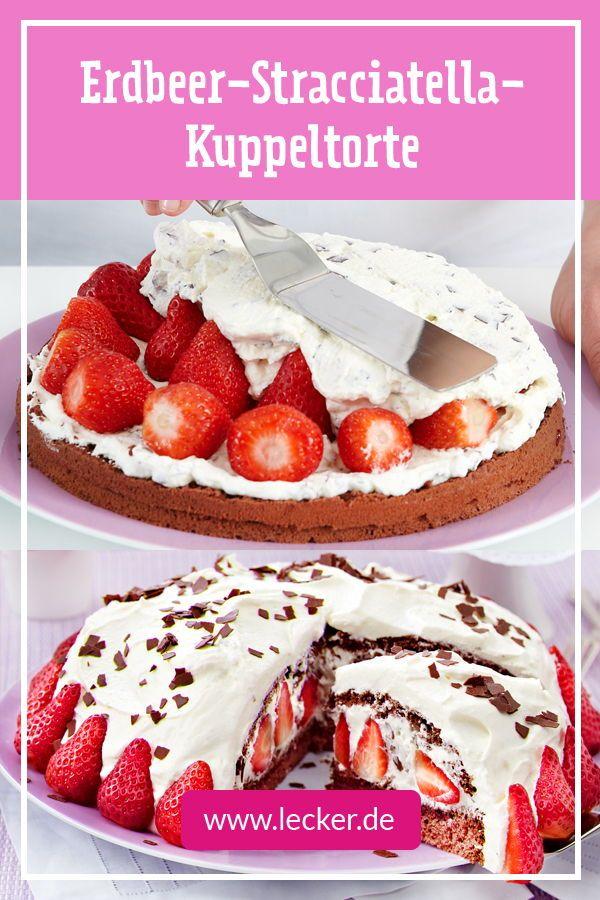 Erdbeer-Stracciatella-Torte - so geht's | LECKER