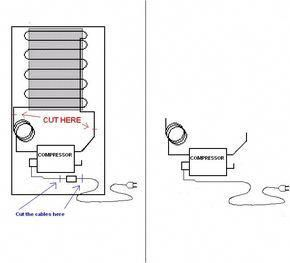 picture of how to remove the compressor from a fridge hobbyshop rh pinterest com