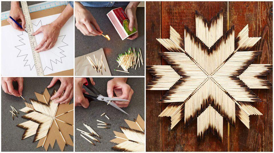 Diy Tutorial Diy Arts Crafts Diy Match Stick Art Bead Cord