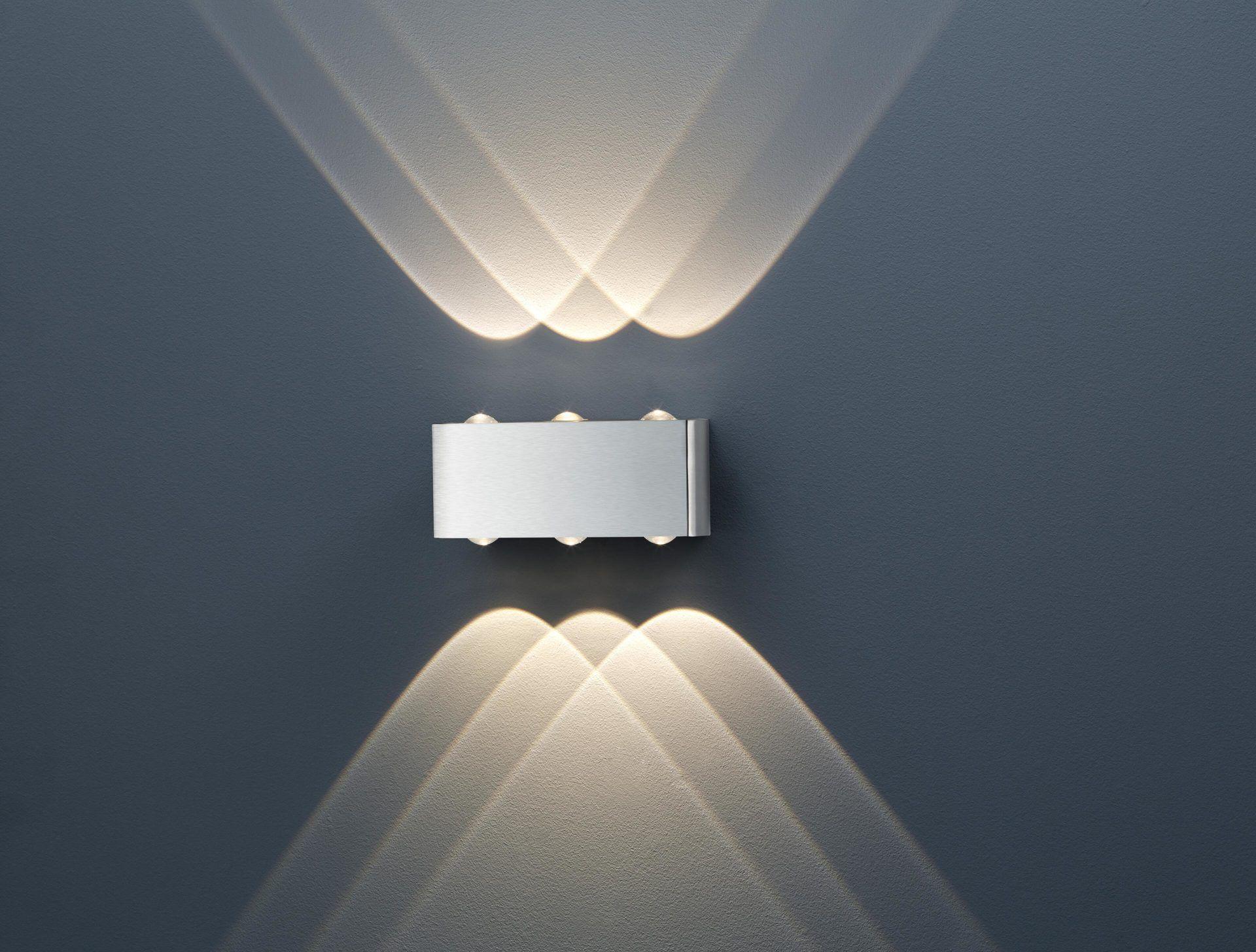 Wandleuchte Aberdeen bzw. Wandlampe, Nickel matt ca. 20 x