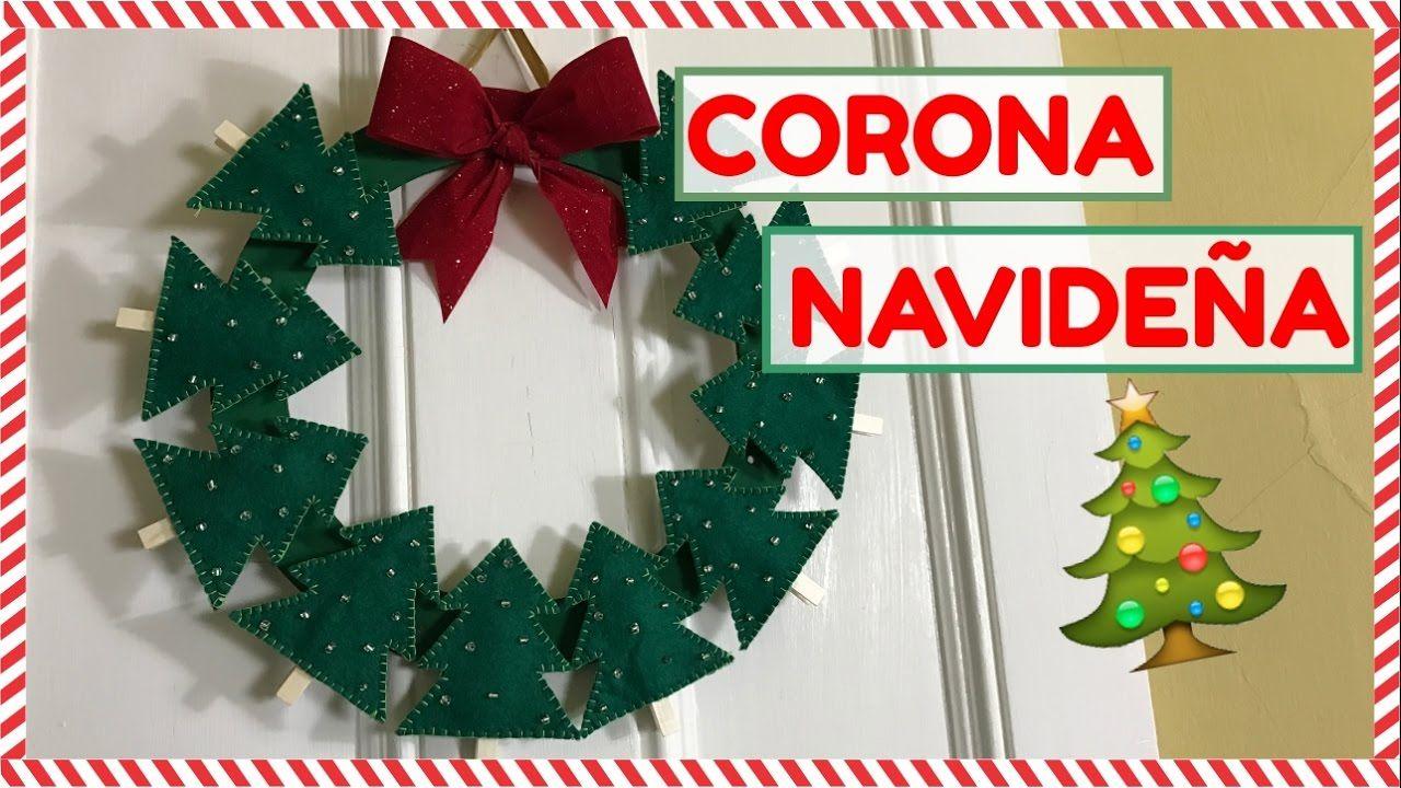 Corona navide a super linda original y facil de hacer - Coronas navidenas faciles ...