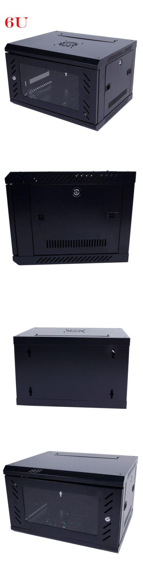 Racks Chassis And Patch Panels 51197 6u Wall Mount Network Server Data Cabinet Enclosure Rack Door Lock Cooling Fan Data Cabinet Patch Panels Wall Mount Rack