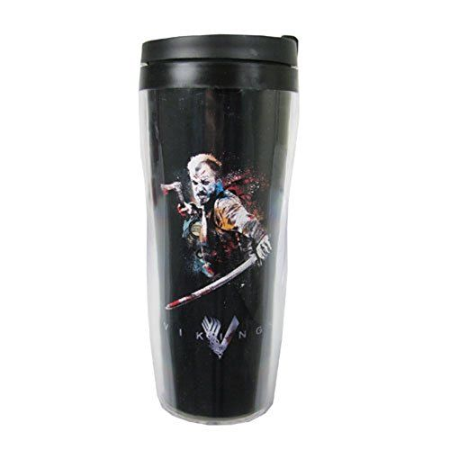 Vikings Floki Travel Coffee Mug Insulated Tumbler Cup 10 Oz History Channel Tv Show
