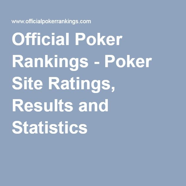 Officialpokerrankings