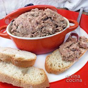 Paté De Campaña Fácil Receta De Divina Cocina Paté De Hígado De Pollo Recetas Para Cocinar Pate De Higado