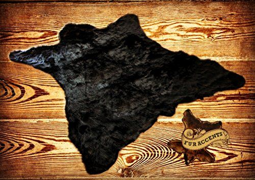 Fur Accents Classic Black Bear Skin Accent Rugfaux Fur 6' >>> Click image for more details.