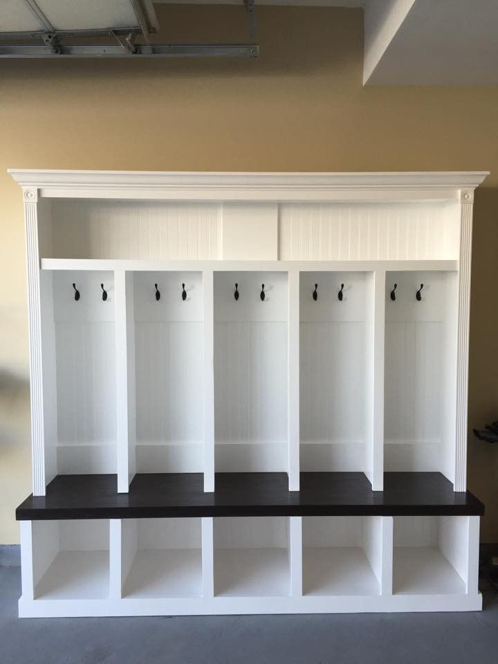 Entryway Locker Dropzone For Mudroom 5 Cubby Mudlocker