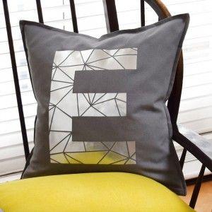 personalised metallic alphabet initial letter cushions a striking rh pinterest com