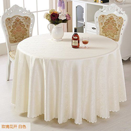 Simple And Modern Circular Table Cloth Table Luxury Hotel Tablecloth D Diameter280cm 110inch Circular Table Table Cloth Table