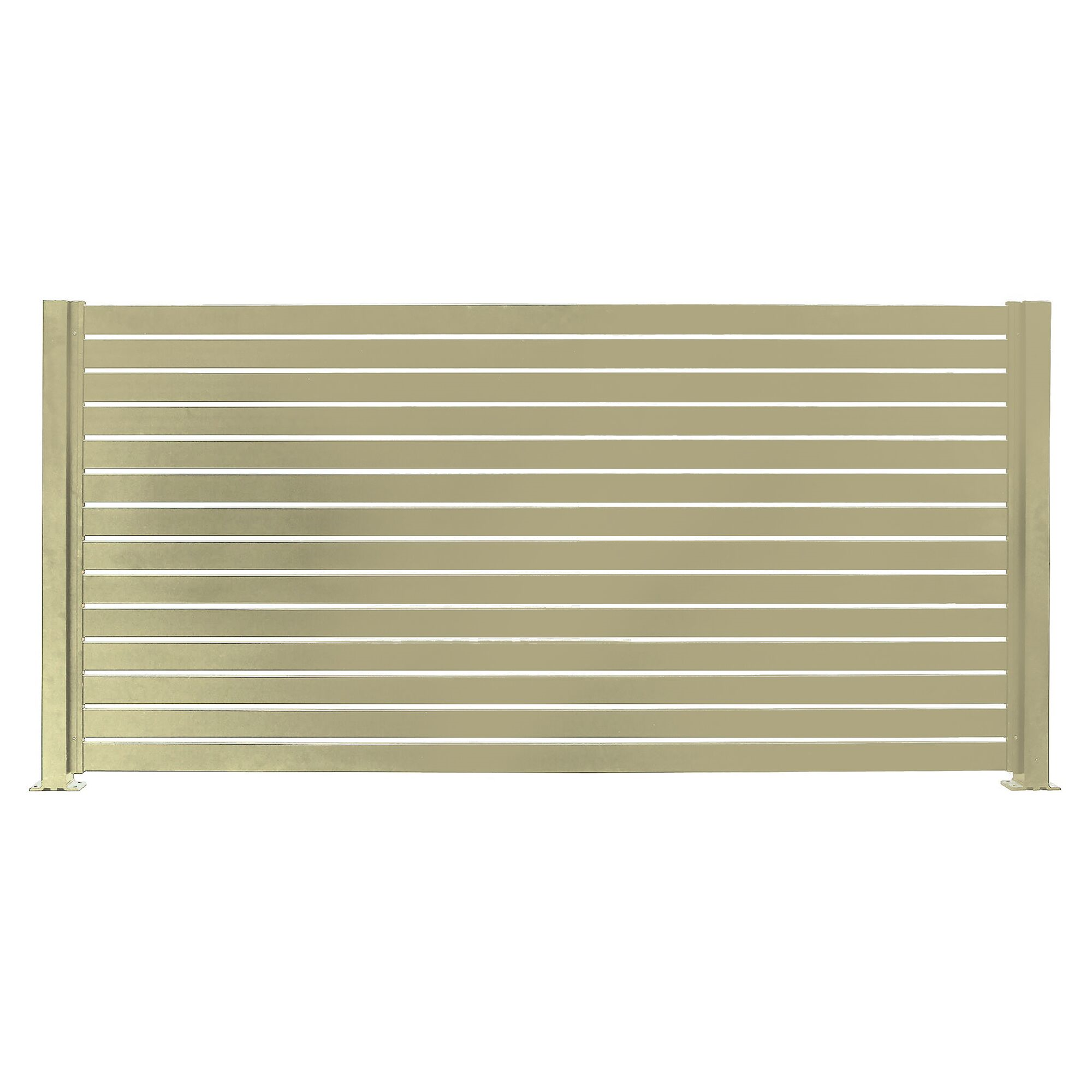 Free 2 Day Shipping Buy Quick Screen Slat Fencing Beige At Walmart Com Fence Panels Metal Fence Panels Fence Slats