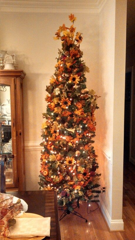My Fall tree I Lovee to decorate for any season... | Table Center ...