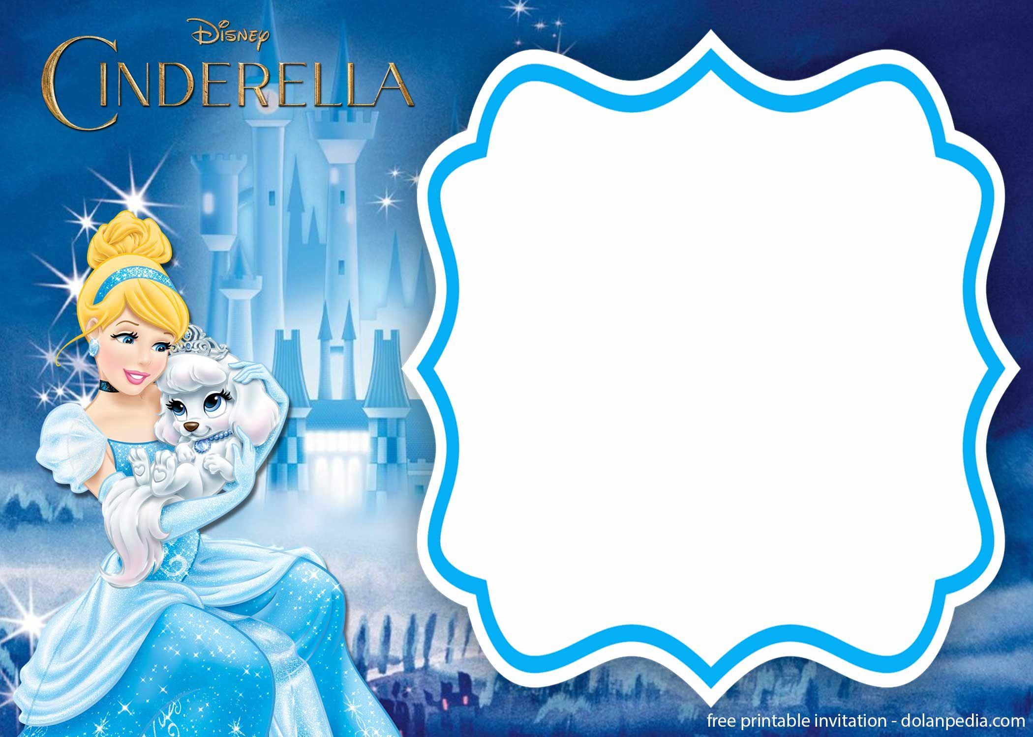 Cinderella Invitation Template Articleblog