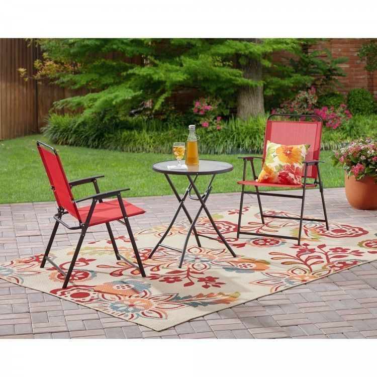 folding patio set 3pcs bistro table n chairs yard garden outdoor rh pinterest ca