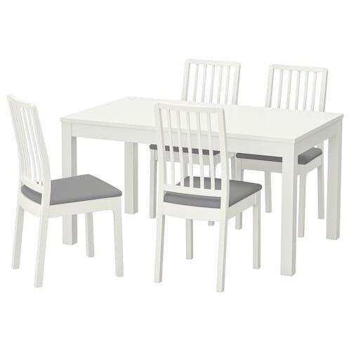 Tavolo Ikea Bjursta Bianco.Ikea Bjursta Ekedalen Tavolo E 4 Sedie Casa Nuova Nel