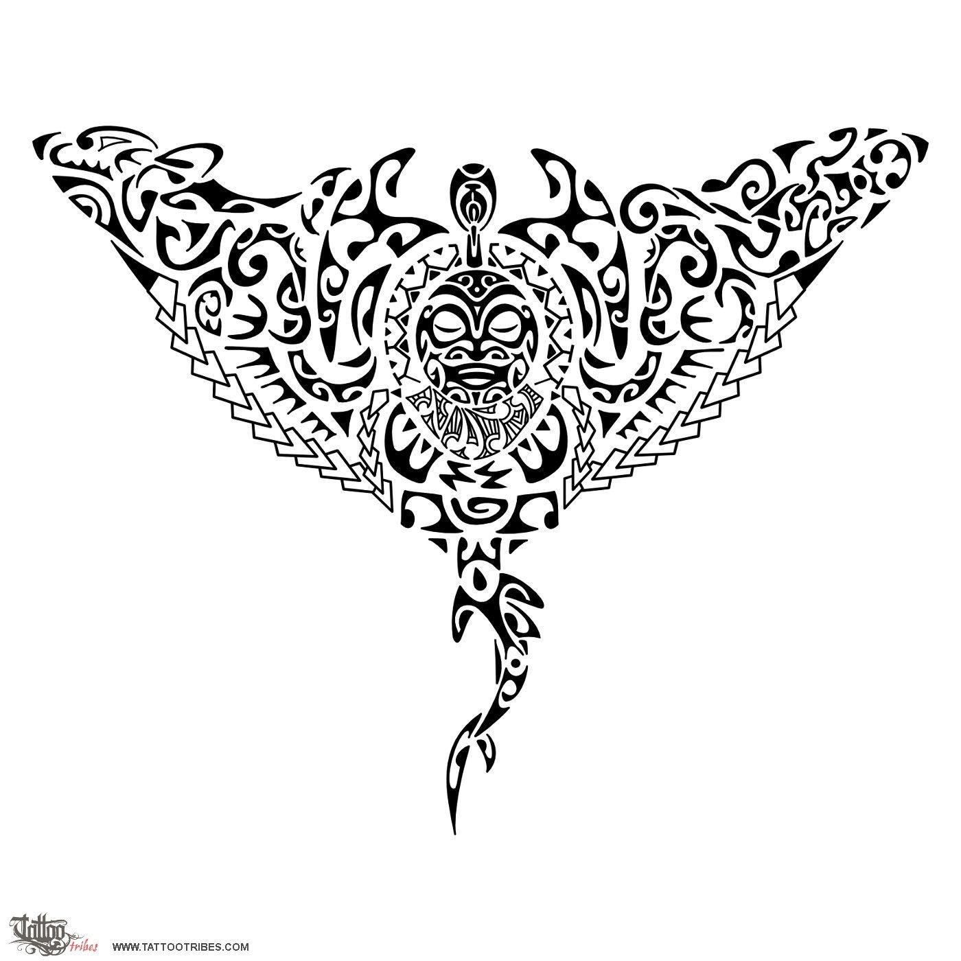 Maori Tattoo Design Wallpaper Wp300369: Maori Manta Ray Tattoo - Buscar Con Google