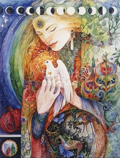 GODDESS ART PRINT-Celestial Art-Star Goddess-Pagan-Visionary Art-Witchcraft