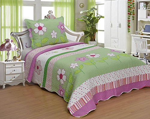 Big 7 Home Twin Size Quilt Set Kids 2Piece Quilt Coverlet Sham ... : twin size quilts and coverlets - Adamdwight.com
