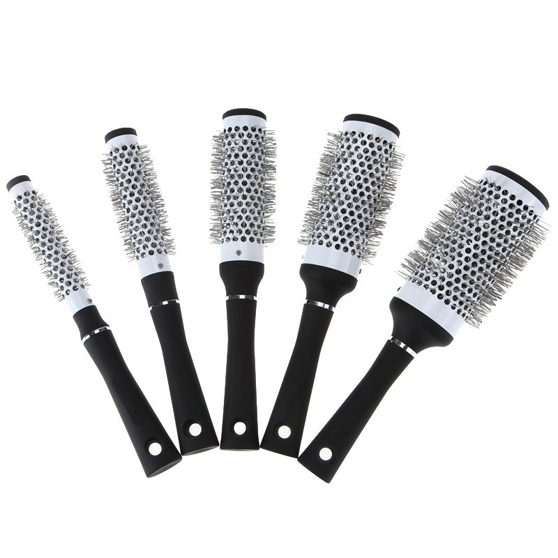 5 Sizes Durable Ceramic Ionic Round Comb Barber Hair Dressing Salon Styling Tools Brushes Barrel Hairbrush Hot Selling Immediate Market Round Comb Hair Brush Ceramic Iron