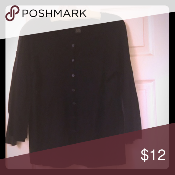 Black sweater Black, 3/4 bell sleeve sweater.  Button up Sweaters Cardigans