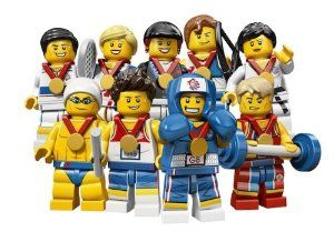 Lego Team GB Olympics Minifigures Complete SET of 9 #8909 Uk Exclusive