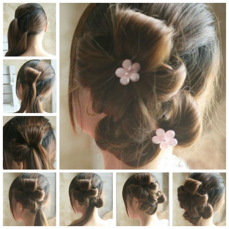Creative Ideas DIY Chic Flower Petal Updo Hairstyle Updo - Diy chignon boheme
