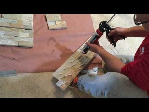 Stone Veneer Installation Using Srw Vertical Instant Lock Adhesive Youtube Stone Veneer Stone Veneer Fireplace Stone