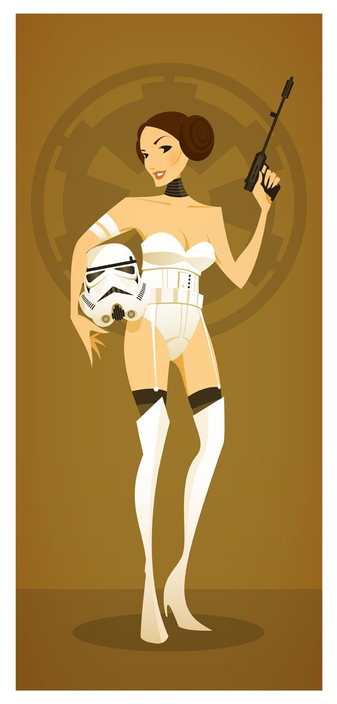 """""""Stormtrooper Leia"""" by Stanley Chow"""