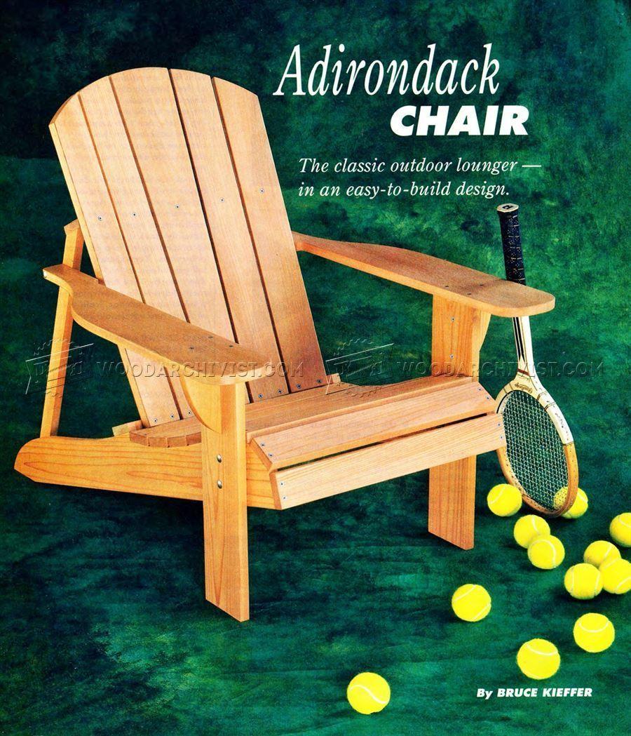 18 how to build an adirondack chair plans ideas easy diy rh pinterest com