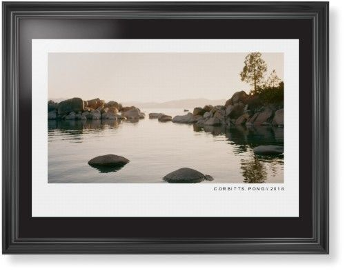 Modern Gallery Framed Print, Black, Classic, None, Black, Single piece, 24 x 36 inches, White