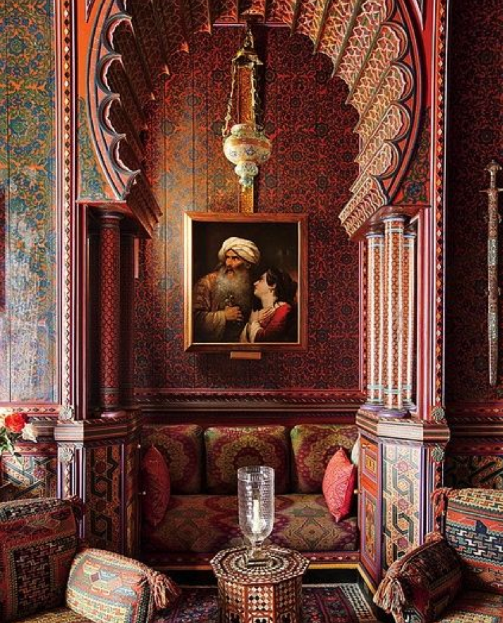 A Small Nook In The Library Which Yves Saint Laurent Said Was His Favorite Room In The World Photograp Moroccan Interiors Moroccan Design Morocco