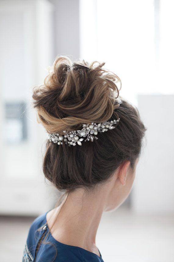 Bridal Headpiece Wedding Headpiece Bridal Rhinestone Crystal Hair ...