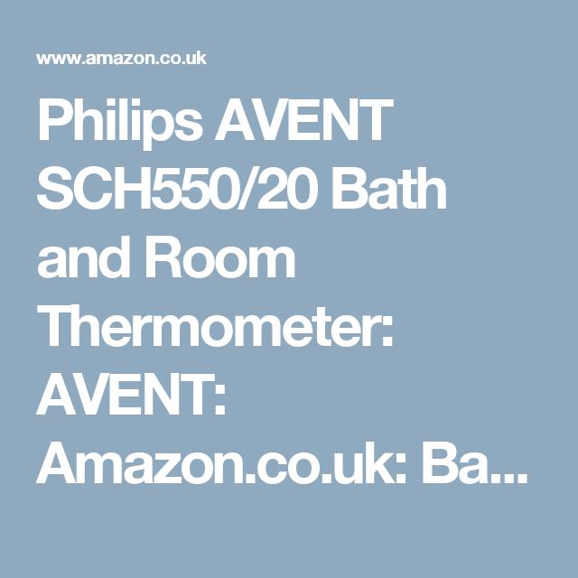 Philips AVENT SCH550//20 Bath and Room Thermometer Blue