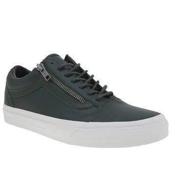 Vans Dark Green Old Skool Zip Womens Trainers A timeless classic gets a  little makeover for