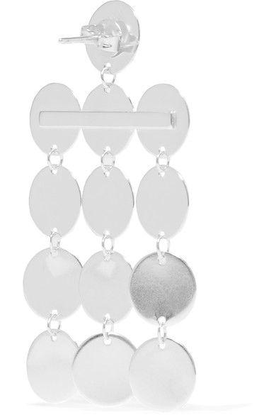 Paillettes Silver Earrings - one size Saskia Diez 9k7w64DA