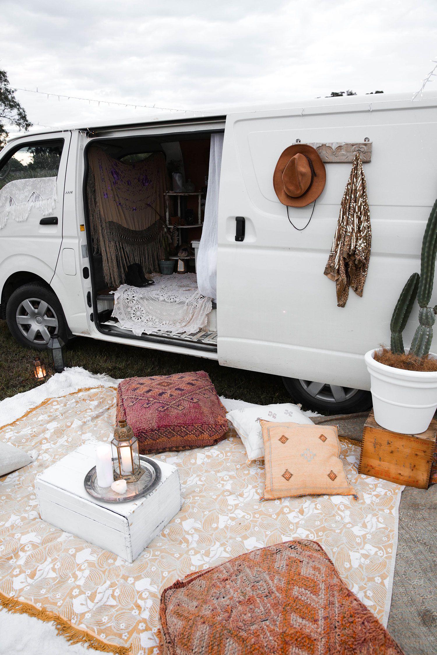 Spell Festival Van Set Up | Bohemien decor | Pinterest | Vans, Small ...